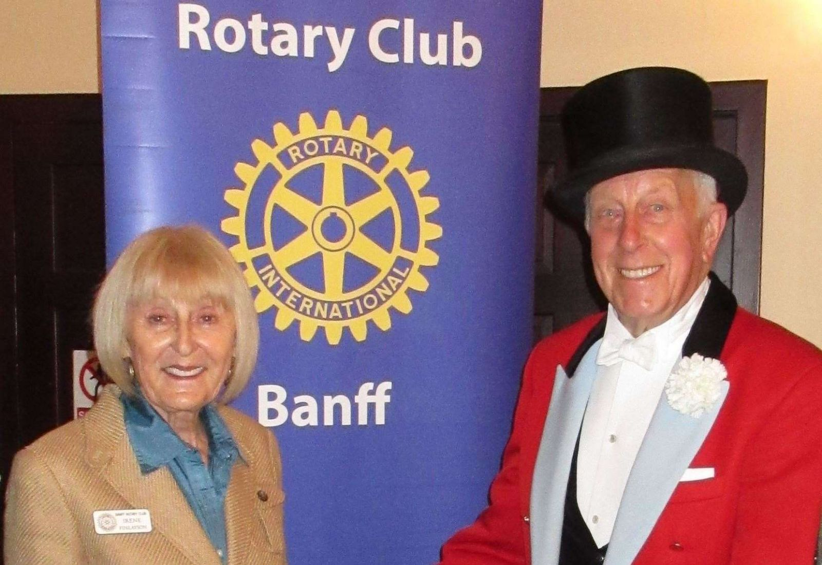 Norman Barrett MBE at Banff Rotary Club. Image: Grampian Online