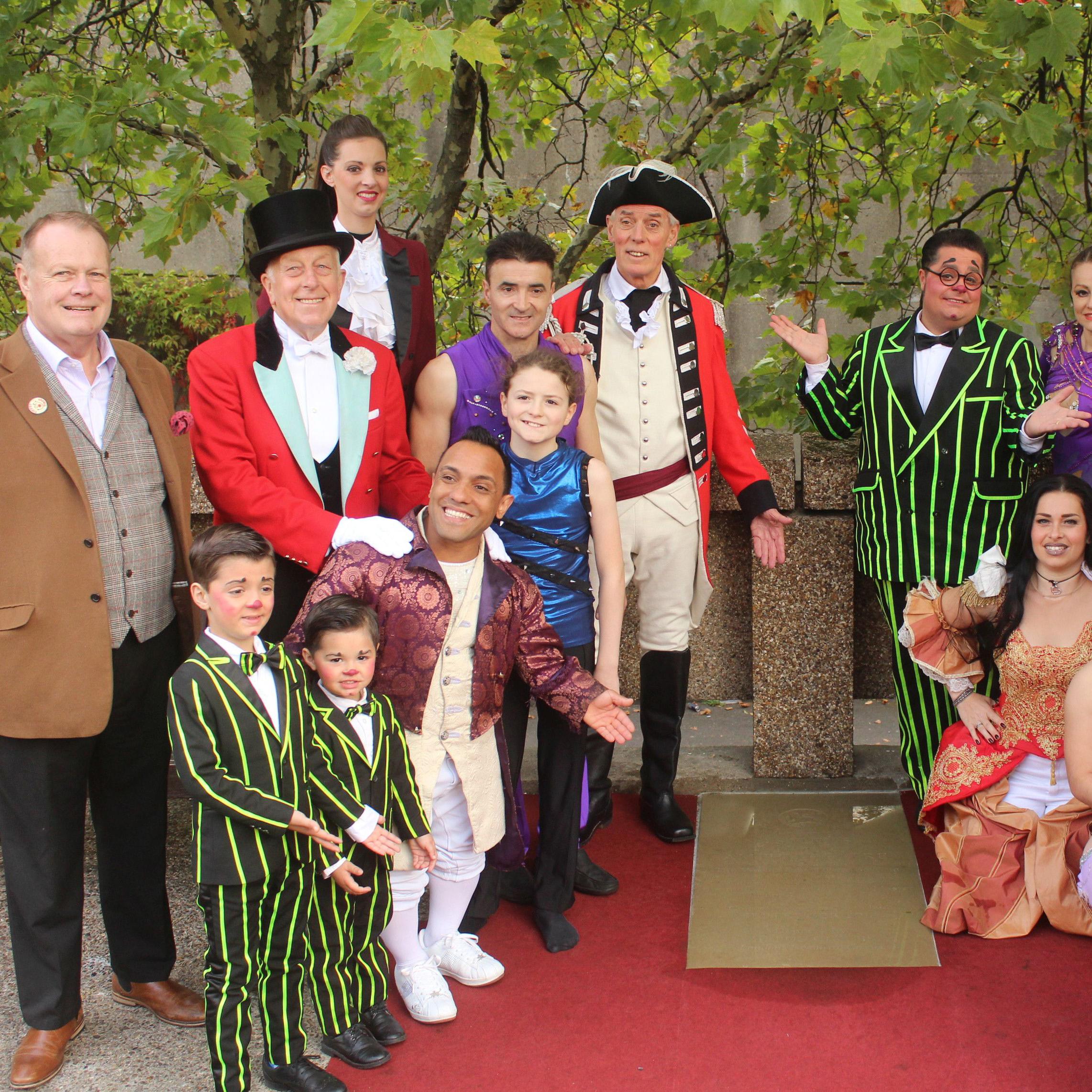 Zippo's Circus lays stone to commemorate Astley's Amphitheatre